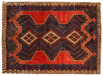 An Afshar carpet, handmade by semi-nomadic Afshars in the district of Kerman in