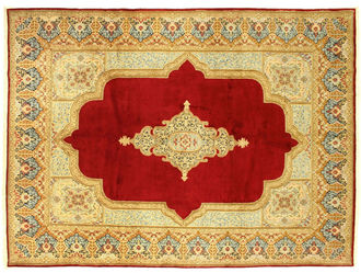 A Kerman Carpet Handmade From The City Of In Southeast Iran